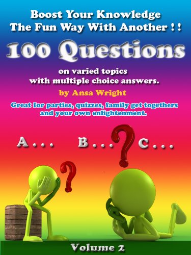 Boost your knowledge the fun way Vol 2:100 questions on varied topics with multiple choice answers, can be used for quizzes