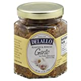 DeLallo Roasted Garlic in Oil 5.5 OZ (Pack of 3)