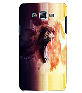 PrintDhaba Roaring Lion D-2697 Back Case Cover for SAMSUNG GALAXY J5 (Multi-Coloured)