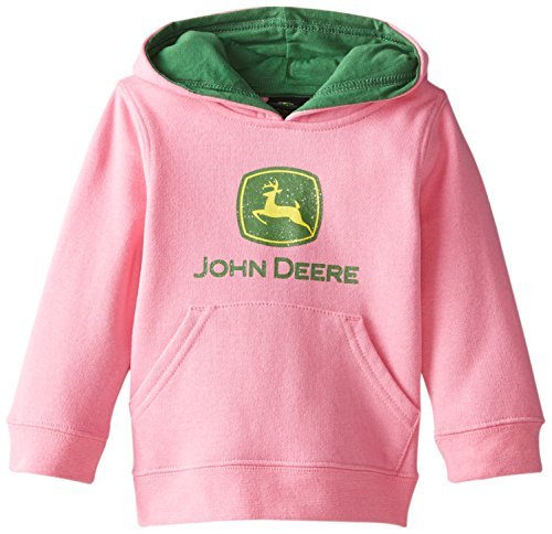 John Deere Baby Girls' Trademark Fleece, Medium Pink, 18 Months