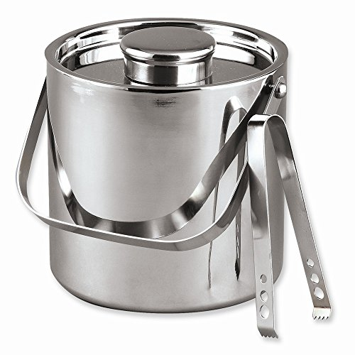 Stainless Steel 3 Quart Ice Bucket With Tongs