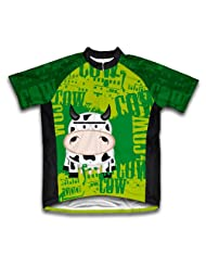 Little Cow Short Sleeve Cycling Jersey for Women