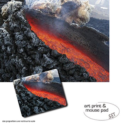 set-regalo-1-poster-impresion-artistica-80x60-cm-1-alfombrilla-para-raton-23x19-cm-volcanes-eruption
