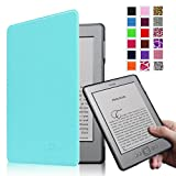 Fintie Kindle 5 & Kindle 4 Ultra Slim Case - The Thinnest and Lightest PU Leather Cover with Magnet Closure (Only Fit Amazon Kindle With 6'' E Ink Display, does not fit Kindle Paperwhite, Touch, or Keyboard), Blue