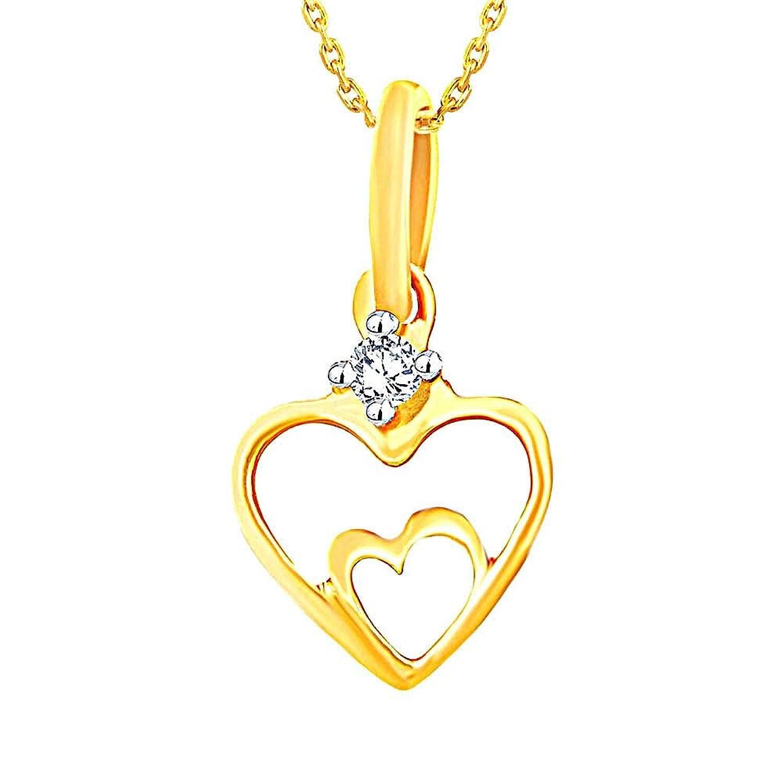 Upto 30% Off On Asmi Jewelry By Amazon | Asmi Modern 18k Yellow Gold and Diamond Pendant @ Rs.3,990