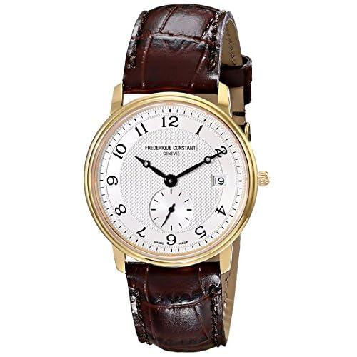 [フレデリックコンスタント]Frederique Constant 腕時計 Slim Line Dark Brown Leather Strap Watch FC-245AS4S5 メンズ [並行輸入品]