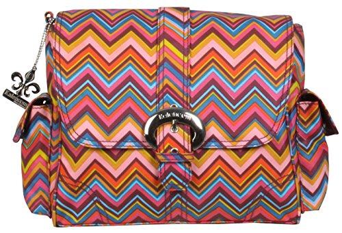 Kalencom Midi Matte Coated Buckle Bag, Cassandra Zig Zag