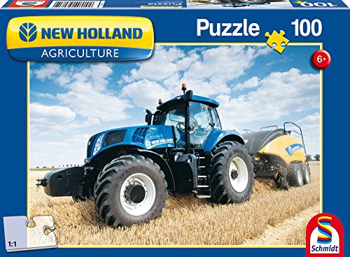 SCHMIDT Children's New Holland Bigbaler Puzzle (100-Piece)