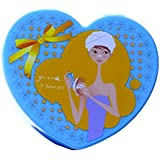 Heart-shaped Jewelry Box With Cosmetic Mirror Inside.GIRLS CHILDRENS FAIRY HEART SHAPED JEWELLERY TRINKET BOX