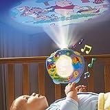 TOMY Veilleuse d'endormissement « Spectacle de Winnie l'ourson » lampe enfant, bleu