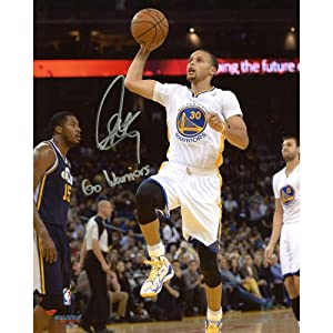 Stephen Curry Golden State Warriors Autographed 8