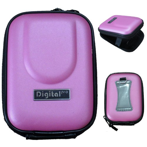 LUPO Water & Shock Resistant Universal Compact Digital Camera Bag Case - PINK (Internal Size: 95 x 65 x 20mm)