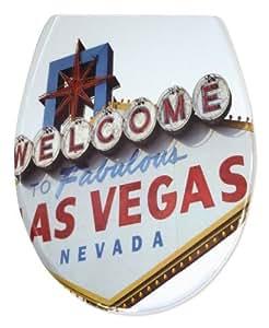 Sitzplatz 40225 5 Abattant WC avec technologie de fermeture amortie Motif Fabulous Las Vegas