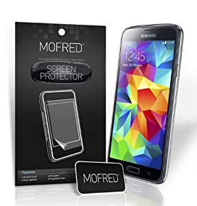 6 x New Samsung Galaxy S5 Supreme Quality Screen Protectors with Cleaning Cloth and Application Card