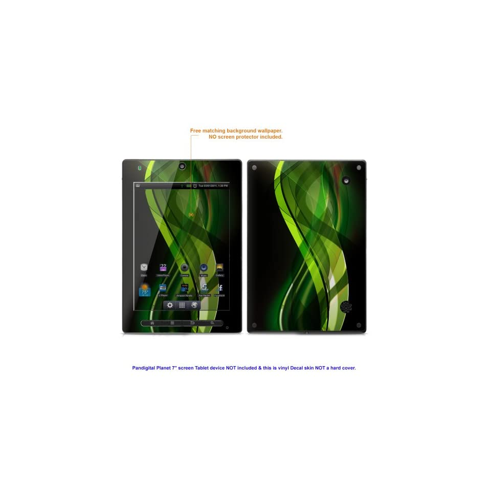 """Decal Skin sticker for Pandigital Planet 7"""" screen Android tablet case cover Planet7 153 Computers & Accessories"""