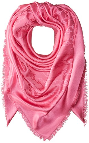 Marc-Jacobs-Womens-Monogram-Solid-Monogram-Logo-Shawl-In-Bright-Pink