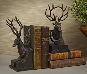 Bookends bronze finished stag bookends deer bookends kitchen home - Stag book ends ...