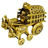 Crafts Of India Village Bullock Cart Brass Statue