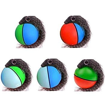 Katzenspielzeug hundespielzeug elektrisch Ball mit Maus Plüschmaus Durchmesser 8 cm NEU