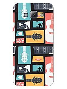 Samsung A8 2015 Back Cover - MTV Gone Case - Keep Calm And Play Guitar - Colorfull - Designer Printed Hard Shell Case