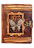 Butterfly Pendant Kindle Fire HD Kindle Keyboard Case Cover Vintage Leather Hardcover Wallet Pouch Cases Covers Lock Brown Suitable for Samsung Galaxy Tab 2 7.0 P1000 Kobo Aura HD Kobo H2O Kobo Arc Kobo eReader Wireless