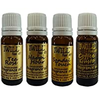 Iwill Premium Fragrance Oil For Diffuser Burner, Potpourri, Cooler & Mopping (Tea Rose, Happi Hour, Sandal Touch...