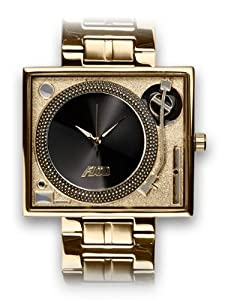 Flud: Turntable Watch w/ Gold Strap - Gold Edition