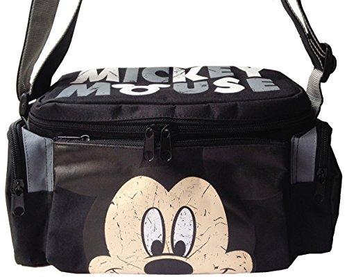 Disney Mickey Mouse & Friends Black Camera Case Shoulder Bag Sling Cross Body Bag front-751333