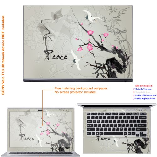 Decalrus Matte Decal Husk Sticker for Sony VAIO T Series Ultrabook with 13.3 conceal (IMPORTANT NOTE: compare your laptop to  Name image on this listing for correct model) invalid cover Mat_VaioT-196