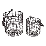 Set of 2 Honey & Me Rustic Metal Round Baskets