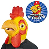 Chicken Head Yellow Latex Mask