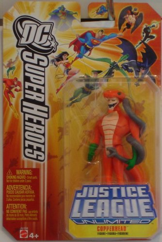 "Justice League Unlimited DC 4.75"" Superheroes: Copperhead"