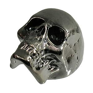 q parts jumbo skull ii custom guitar volume tone knob black chrome musical instruments. Black Bedroom Furniture Sets. Home Design Ideas
