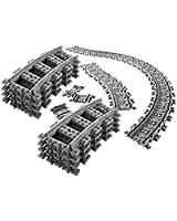 8x rails incurvés + 16x rails flexibles - Rails incurvés et rails flexibles Lego, Rails courbes Lego City Courbé