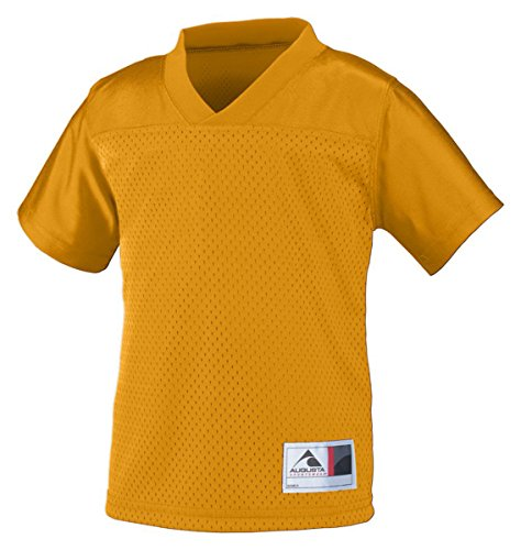 Augusta Sportswear Toddler V Neck Collar Jersey, Gold, 4T front-832424