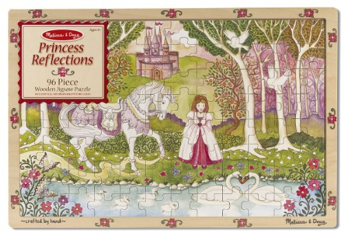 Melissa & Doug Princess Reflections Wooden Jigsaw Puzzle, 96-Piece
