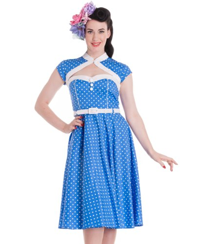 Hell Bunny Blue Melanie Dress XS - UK 6 / EU 34