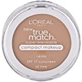 L'oreal Paris True Match Super-blendable Compact Makeup, SPF 17, True Beige, 0.30 Ounce, 2 Ea