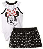 Disney Baby-Girls  Minnie Mouse Creeper with Knit Skirt