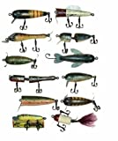 Rivers Edge Products 12 Asst Antique Wood Lure Ornaments