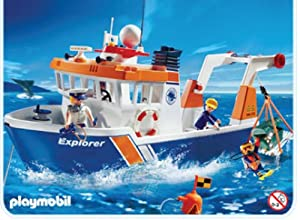 Playmobil 4469 nautical expedition ship for Piscine playmobil