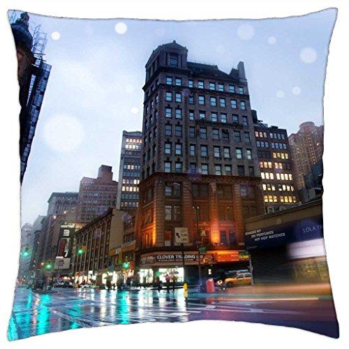 iRocket - New York Broadway - Throw Pillow Cover (24