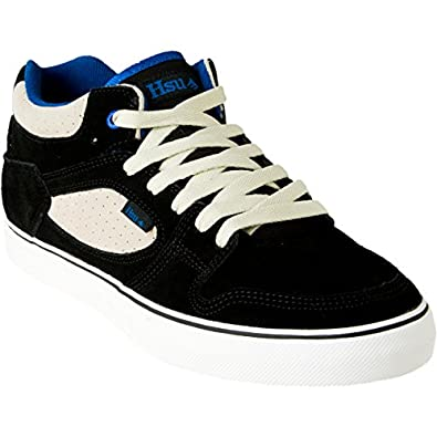 Emerica Hsu Skate Mid Shoe - Men's Black/White/Royal, 9.0