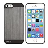 Ahha Jensen Metallic Back Case Cover For Apple IPhone 5S / 5 - Jet Grey (A-MCIH5-0GG1)