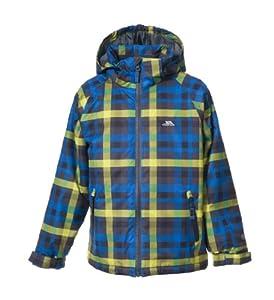 Trespass Boy's Baxter Ski Jacket - Flint Check, 11-12 Years (Old Version)