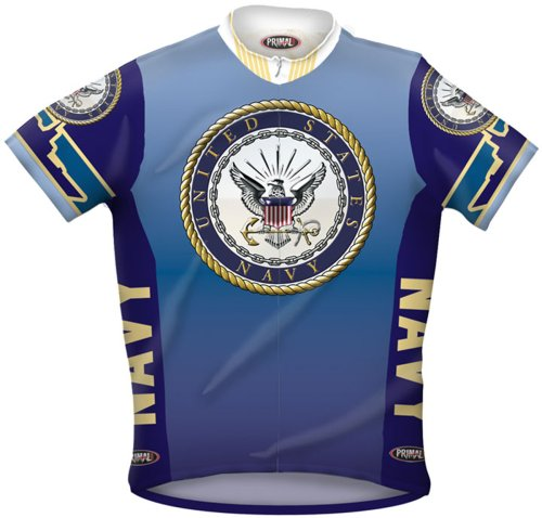 Buy Low Price Primal Wear Men's US Navy Military Short Sleeve Cycling Jersey – USN6JER (USN6JER)