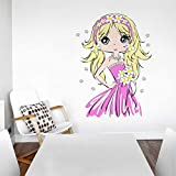 Rawpockets Decal ' Cute Baby Girl' Multi-Color Large Size Wall Sticker(Material- PVC Vinyl Matte Finish,Wall Coverage Area -Height -85cm X Width -60cm)( Pack Of 1)