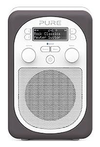 Pure Evoke D2 Mio Portable DAB Digital/FM Radio with Bluetooth - Pewter