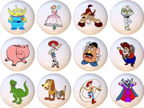 Toy Story Drawer Pulls Knobs Set of 12