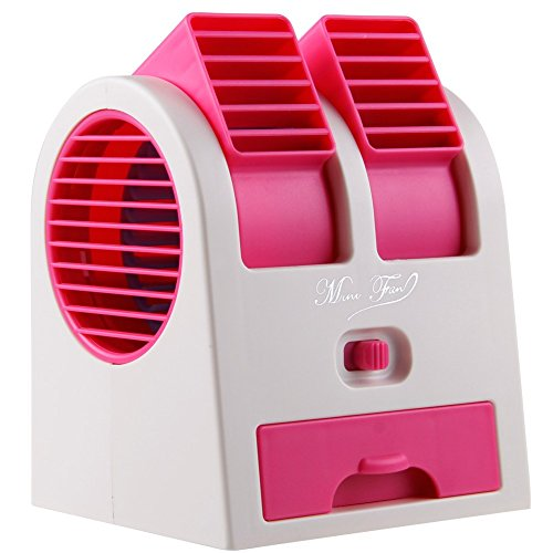 I-Make Portable Desktop Mini Small Bladeless Fan Dual Use USB Air Cooling Conditioner + Free Keychain Any One